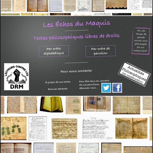 Textes philosophiques gratuits et libres de droits