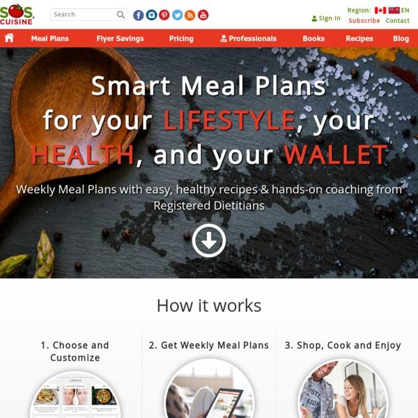 Menus personnalisés gratuits, recettes faciles et produits frais locaux