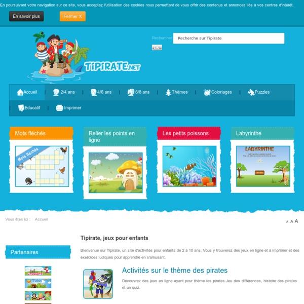 Tipirate, jeux et activités pour enfants - Tipirate, jeux et activités pour enfants
