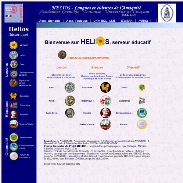 Helios - Accueil