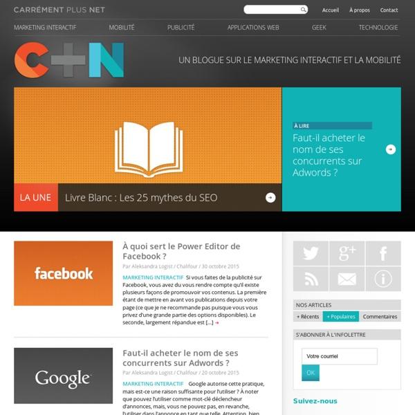 Blogue sur l'industrie du Web et des communications marketing au Québec