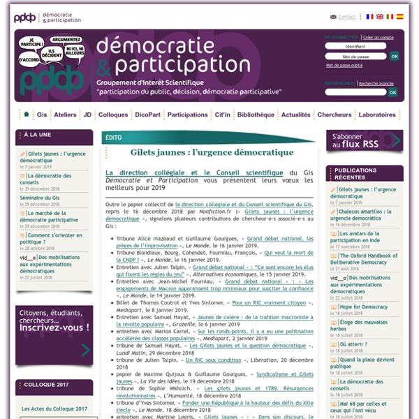 Démocratie et Participation