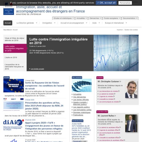 Accueil - Immigration, asile, accueil et accompagnement des étrangers en France - Ministère de l'Intérieur