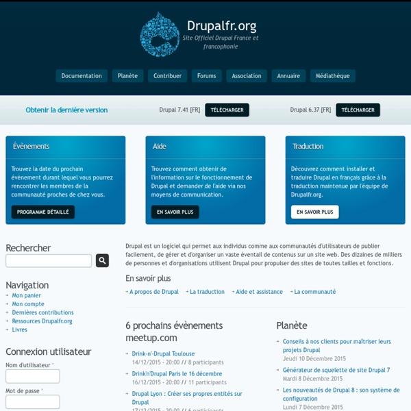 Drupal France et francophonie