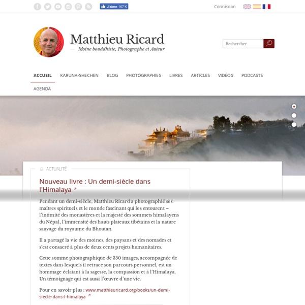Accueil - Matthieu Ricard