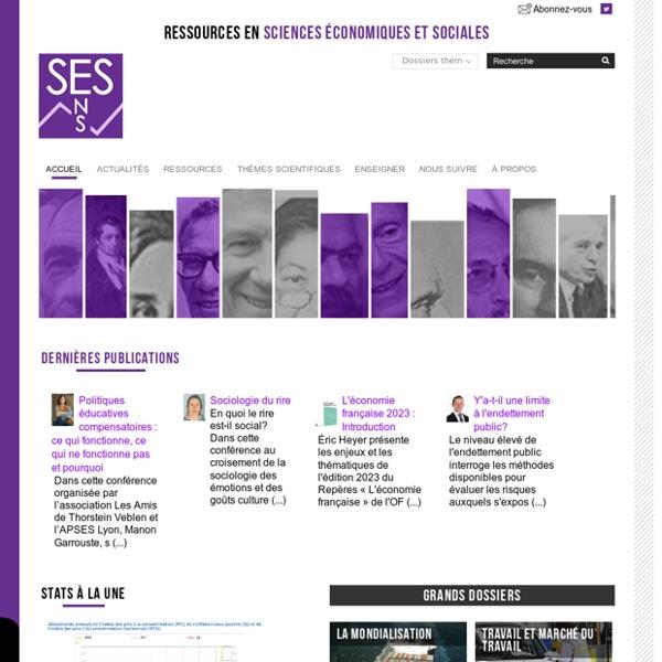 Les Sciences Economiques et Sociales - Bienvenue sur le site