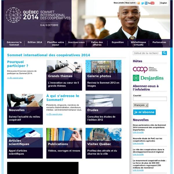 Sommet international des coopératives 2012