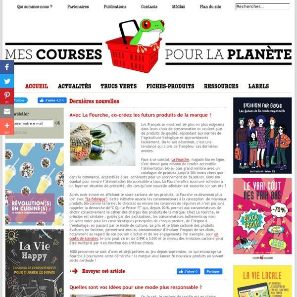 Accueil / MesCoursesPourLaPlanète.com