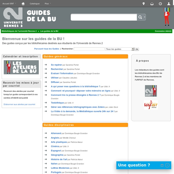 Guide recherche Bibiothèque Universitaire