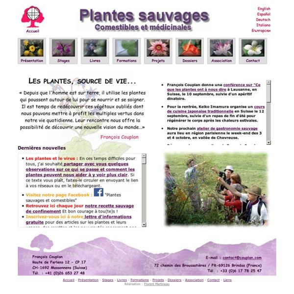 Plantes sauvages comestibles et médicinales - Accueil