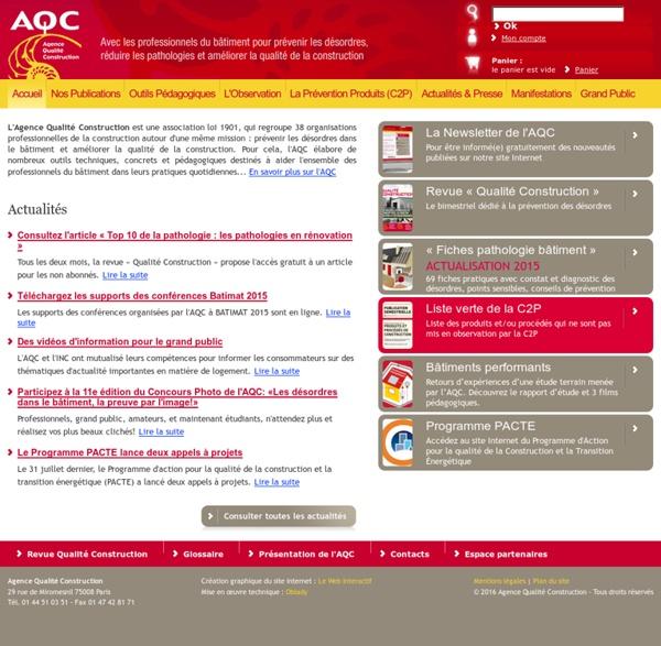 AQC-Pathologie du batiment