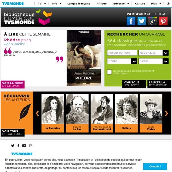 Bibliothèque NUMERIQUE TV5MONDE