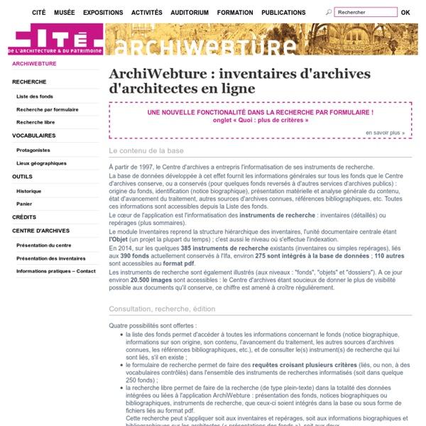 Archiwebture — Accueil