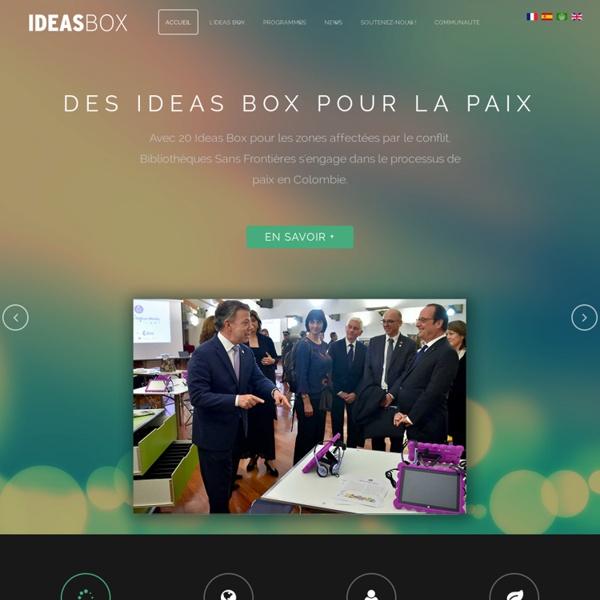 Ideas box : les bibliothèques en kit