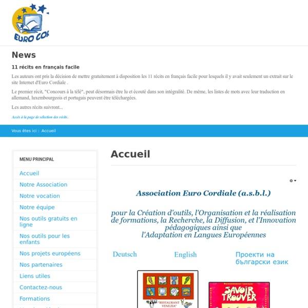 Le site d'Euro Cordiale