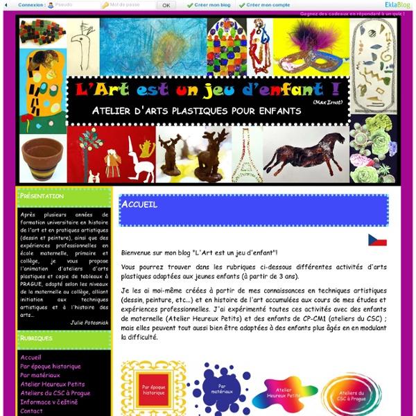 Accueil - Atelier d'arts plastiques pour enfants
