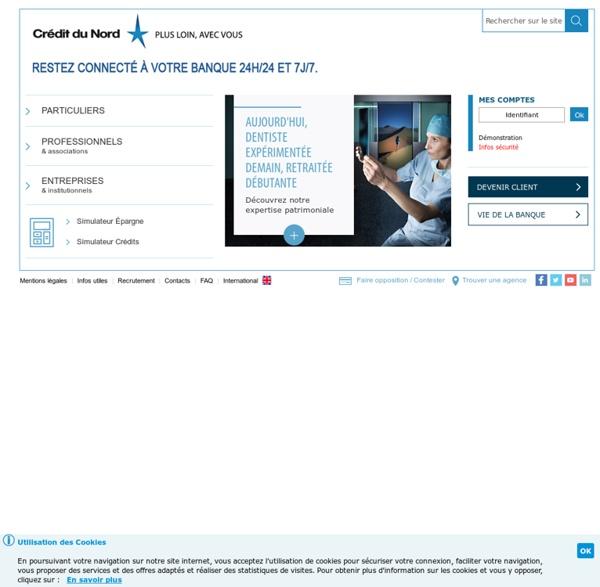 Accueil Banque - Crédit du Nord