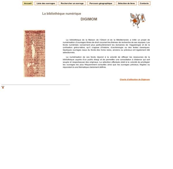 La bibliothèque numérique DIGIMOM