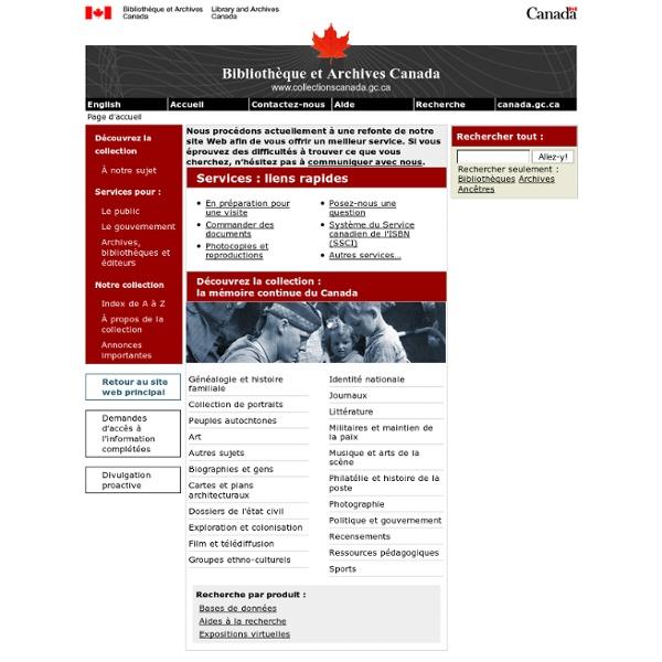 Bibliothèque et Archives Canada