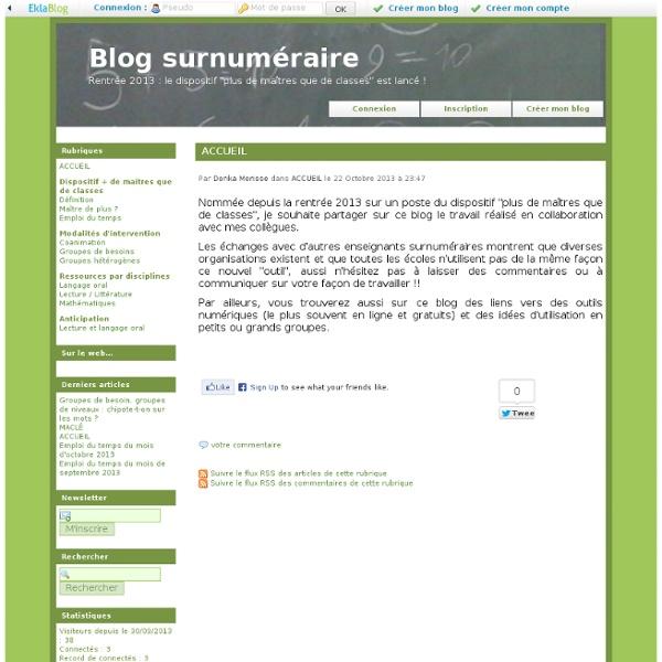 Blog surnuméraire
