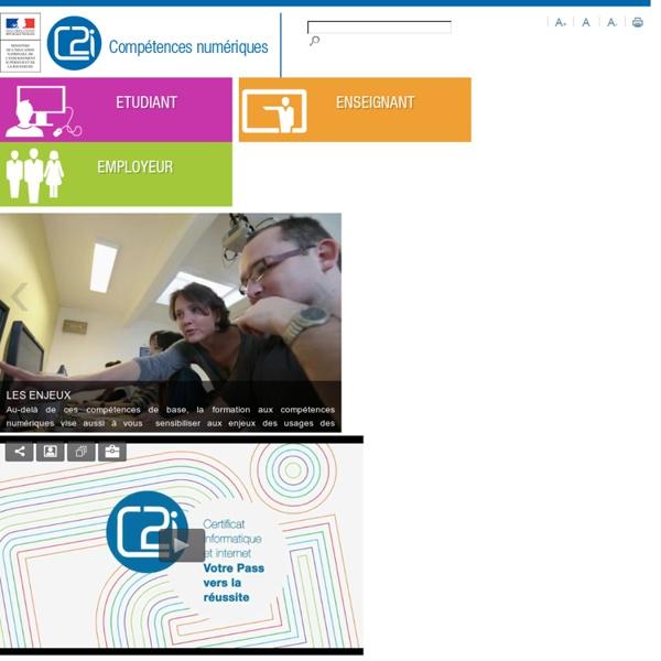 Certificat Informatique et Internet (C2i)