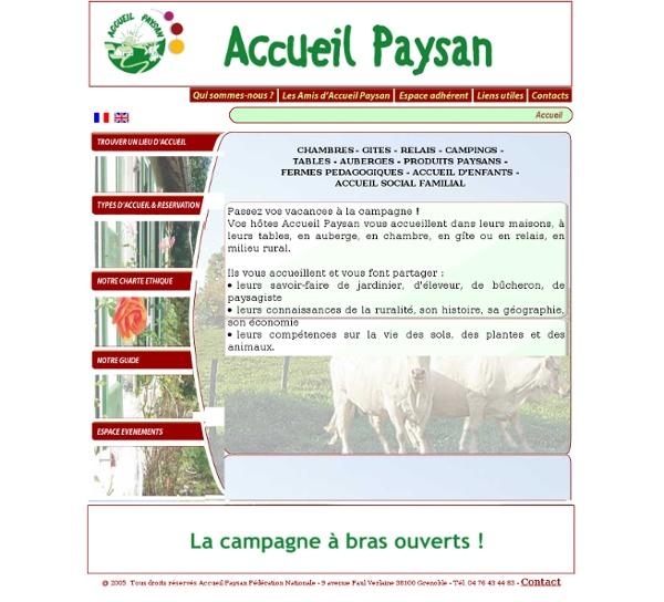 Accueil Paysan : gîte, camping, ferme, auberge à la campagne