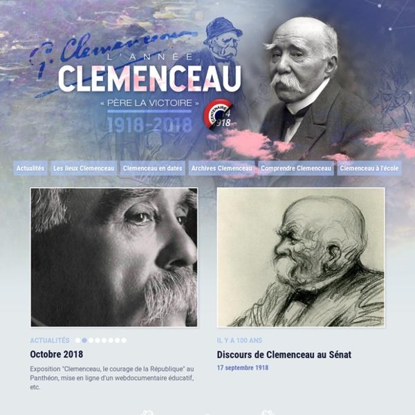 """Clémenceau """"Père la victoire"""" 1918-2018"""
