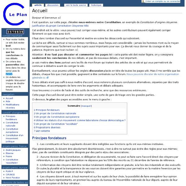Accueil - Notre plan C : une Constitution Citoyenne