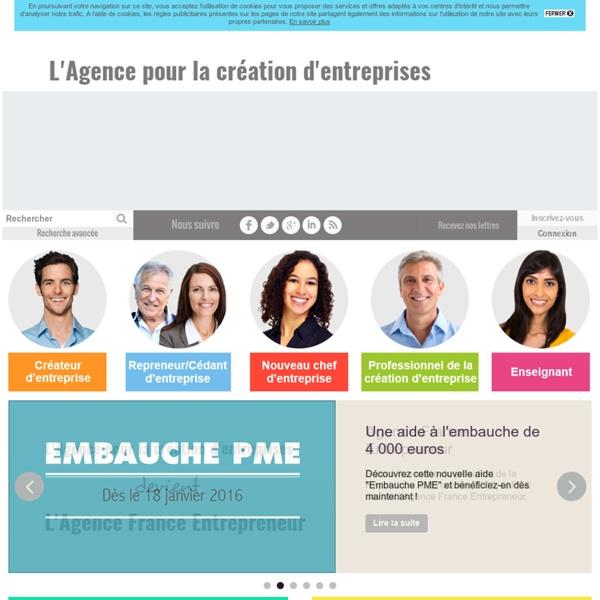 Accueil - APCE, agence pour la création d'entreprises