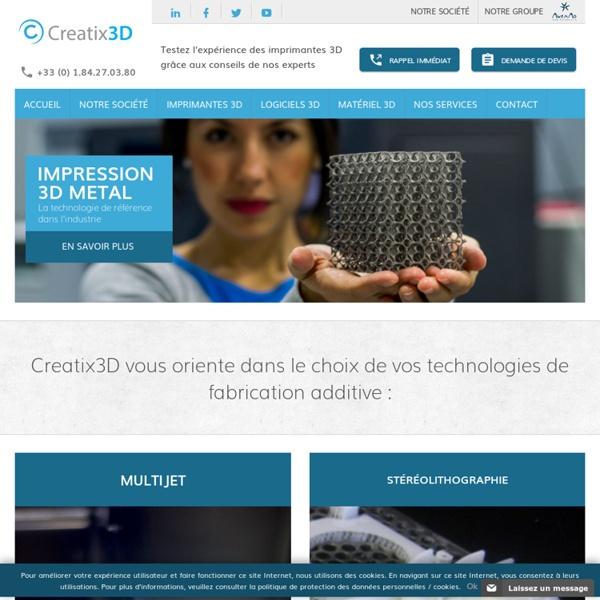 Creatix3D : Distributeur Imprimantes 3D. Tout sur l'impression et le prototypage 3D. Comparatif, guide d'achat et Prix.