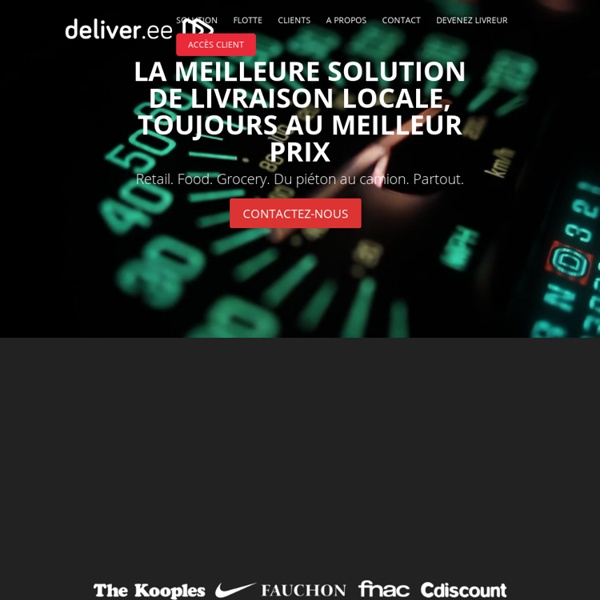 Deliveree - spécialiste de la livraison urbaine - coursiers à Paris et en régions