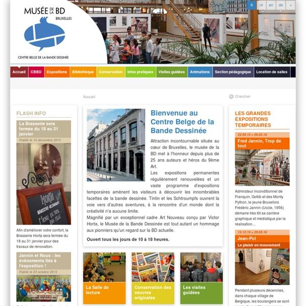 Centre Belge de la Bande Dessinée, Bruxelles — Accueil