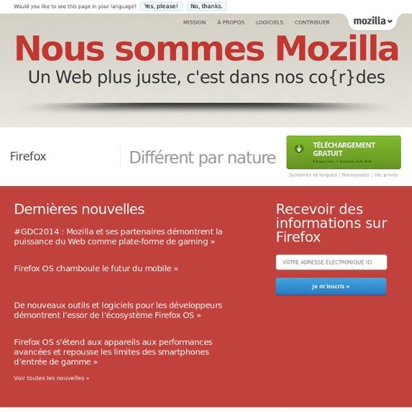 Navigateur Firefox en français