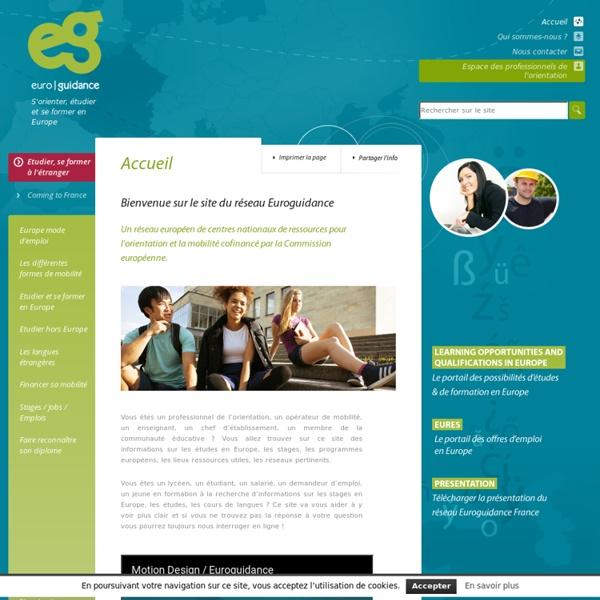 SITE Euroguidance : étudier, se former, travailler en Europe