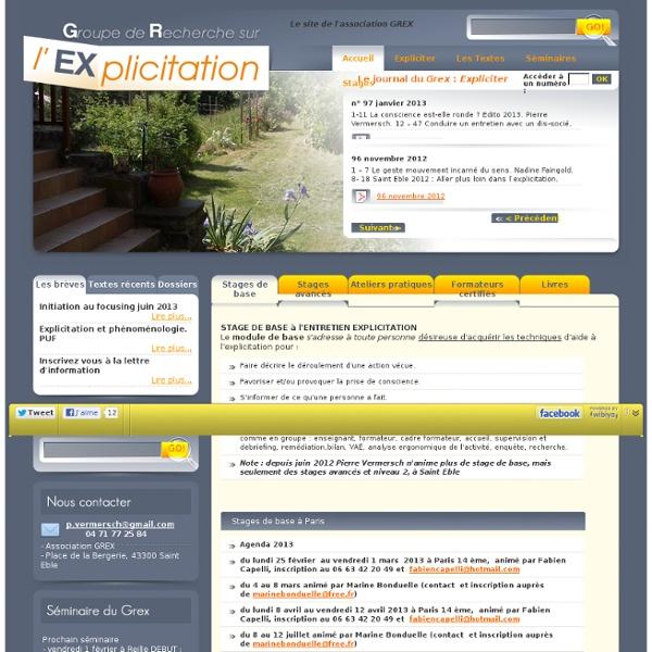 Explicite Groupe de Recherche sur l'Explicitation