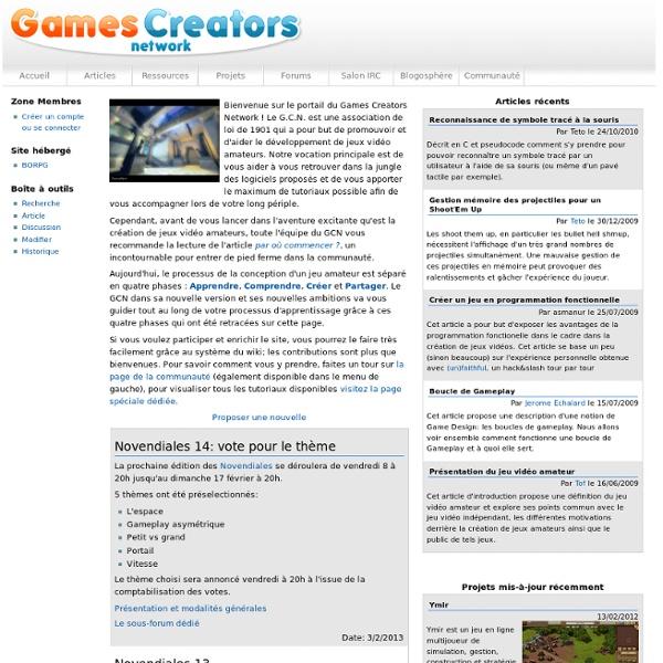 Accueil - Games Creators Network