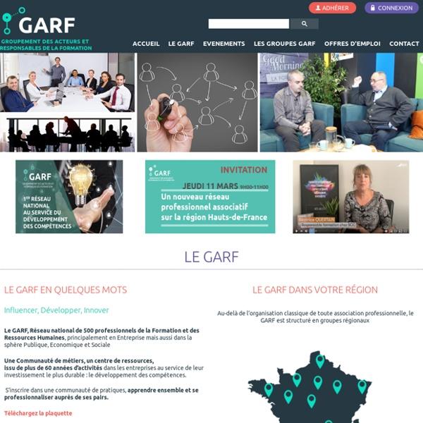 Accueil - GARF - SIRET 328 877 626 00031