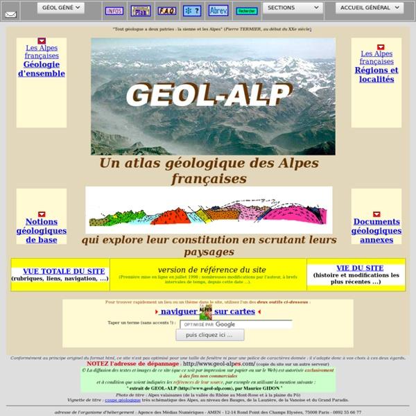 GEOL_ALP:accueil général