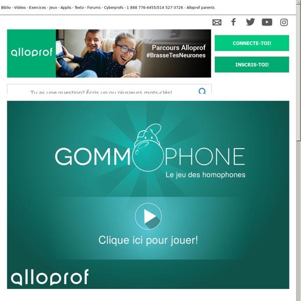 Gommophone : le jeu des homophones