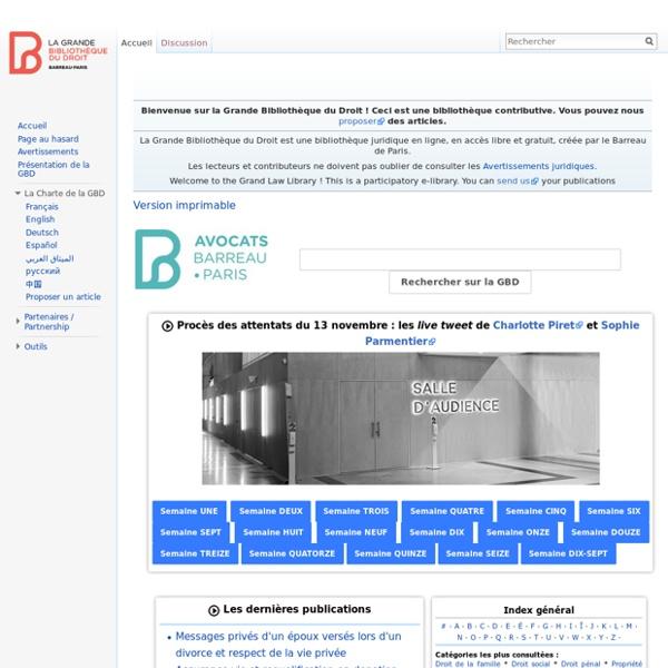 Accueil - Grande Bibliothèque du Droit