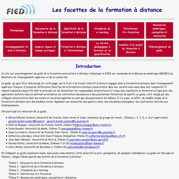 Uniso.fr - Les facettes de la formation à distance