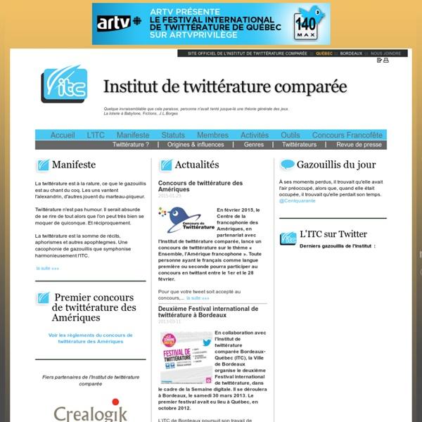 INstitut de Twitterature