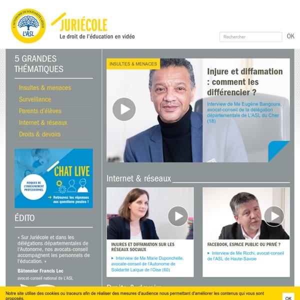 Juriécole - Le droit de l'éducation en vidéo