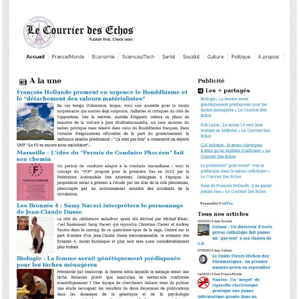 Le Courrier Des Echos