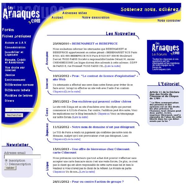 LesArnaques.com - Arnaques, Litiges, Conseils, Infos, Médiation,