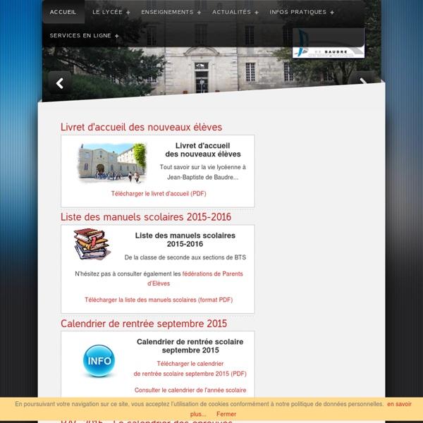 Site Lycée JB de Baudre Agen