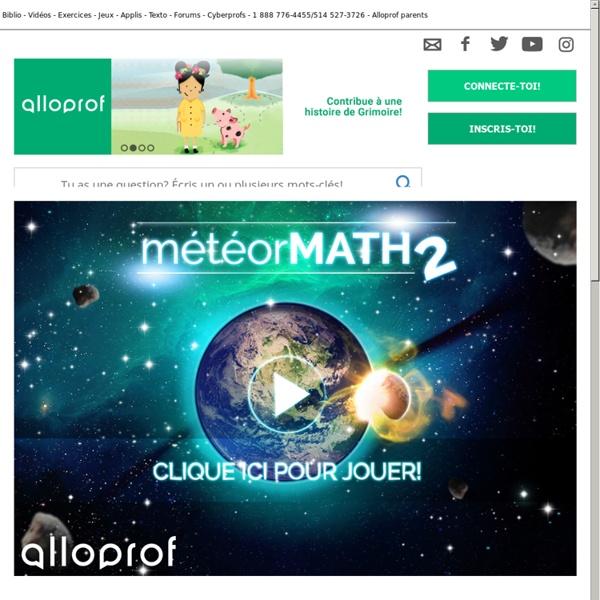 Accueil MeteorMath2