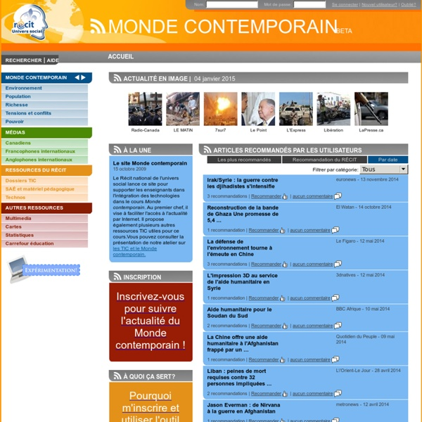 Accueil - Monde Contemporain
