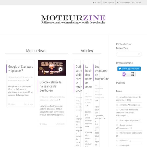 Blog sur le référencement, Google, réseaux sociaux et Facebook
