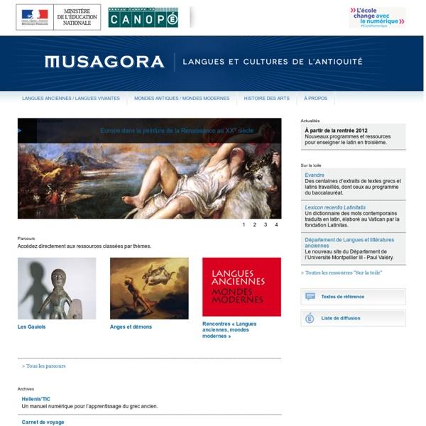 Accueil-Musagora-Centre National de Documentation Pédagogique